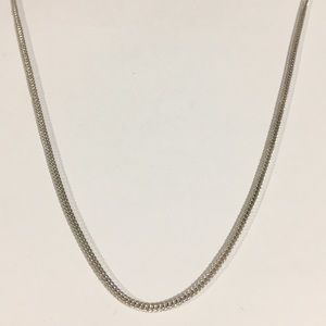 "Sterling Silver 2mm Franco Necklace 24"" Chain"